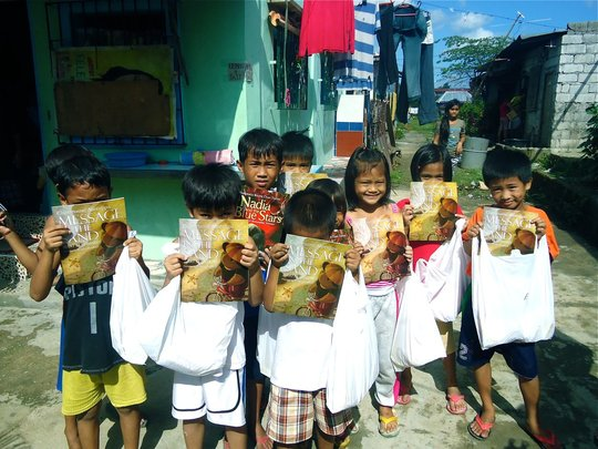 Book giving in Marilao, Bulacan