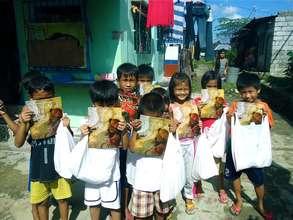 Book giving in Marilao, Bulacan