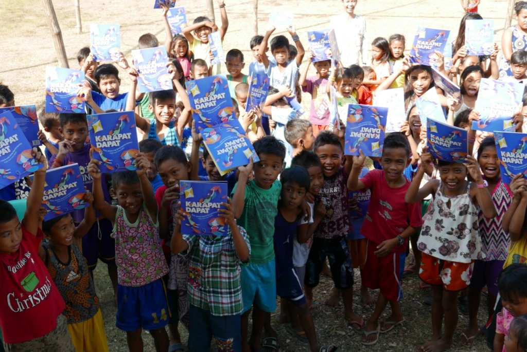 Bookgiving for the Tagbanua kids of Palawan.