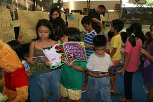 Books for children displaced by Typhoon Sendong