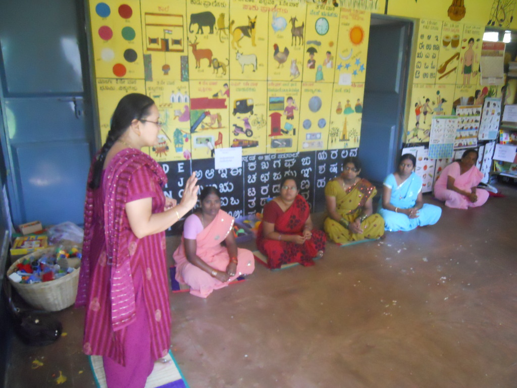 Training Anganwadi workers on Model Anganwadis