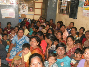 Mothers meeting in progress at an Anganwadi