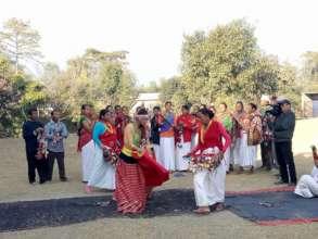 Tharu cultural dance in Tulsipur