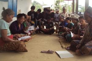 Adult Literacy class in Limbu Language