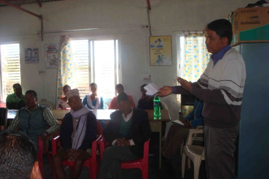 Kulbir Chaudhary addressing the event