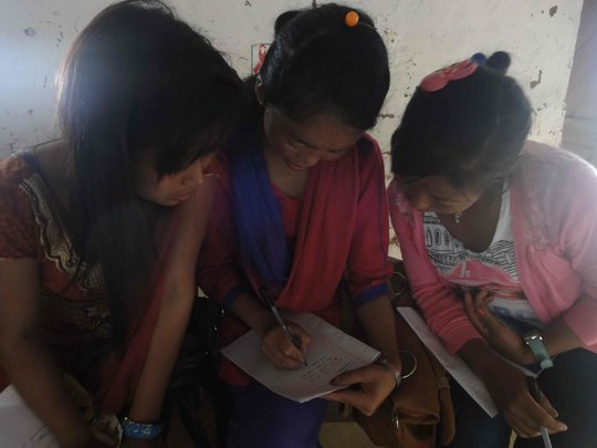 Limbu Women writing Limbu folk stories