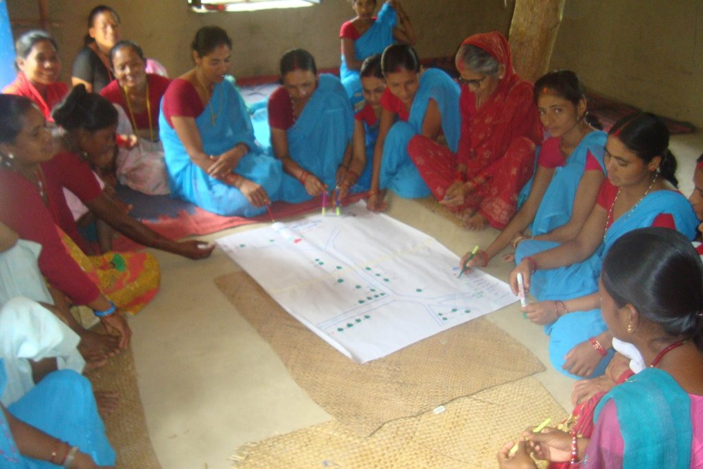 Making village map for community development