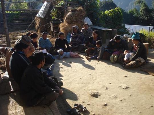 Regular group meeting, Phaktep-6, Panchthar