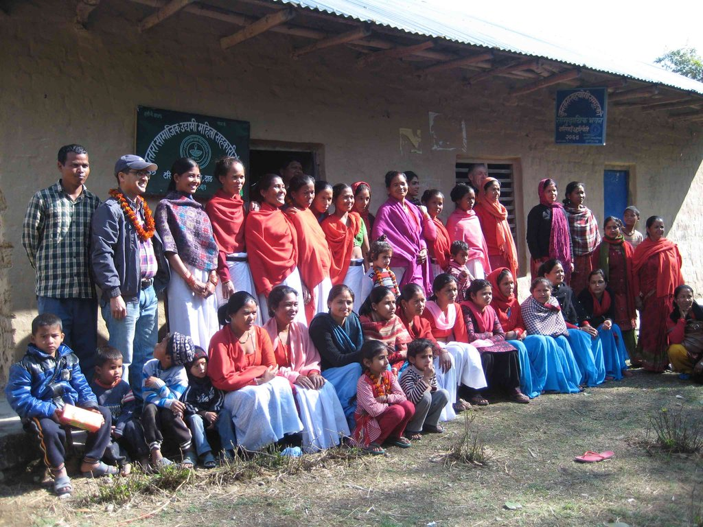 Group picture with Women Group after meeting