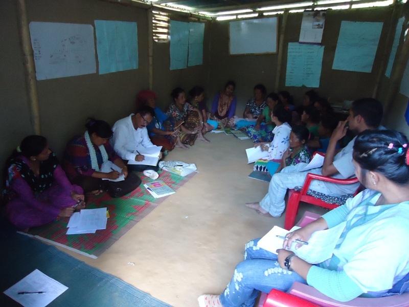 Tharu women literacy class, Dang