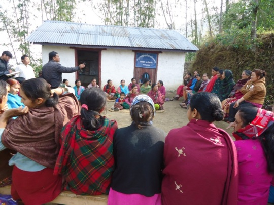 Livelihood Planning Meeting with Community