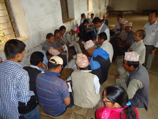 MLE planning meeting in Limbu community