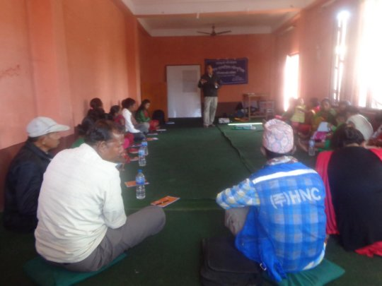Participants in the training