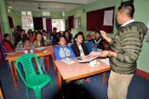 Hari Chandra Lawati Facilitating the training