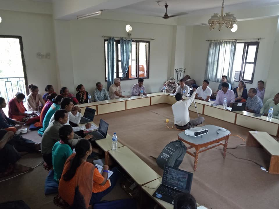 Meeting with stakeholders to share progress report