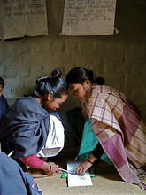 Tharu literacy class