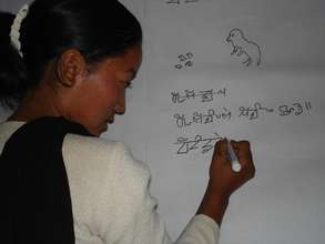 Limbu literacy class