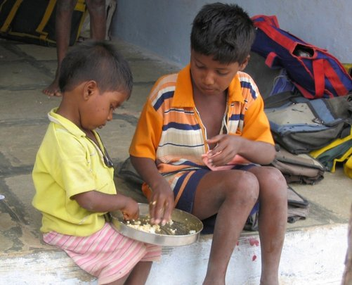 Children in pathetic condition