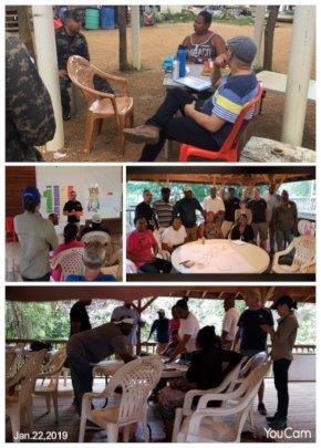 Meetings with Punta Gorda community - Honduras