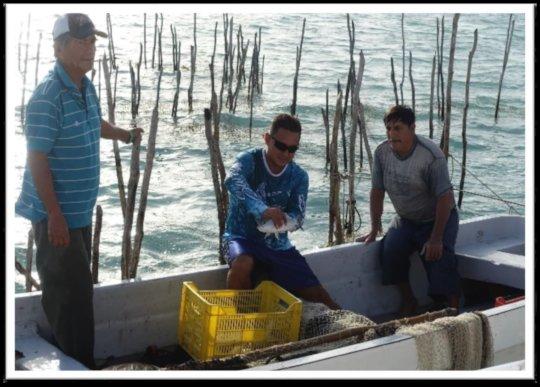 Fishermen from Corozal Bay Wildlife Santuary