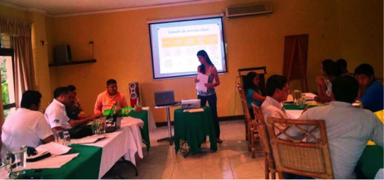 Melissa Alvarez giving her presentation