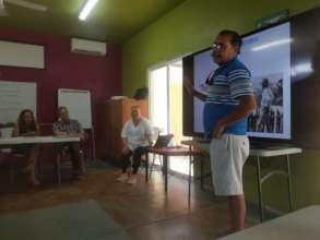 Mario Castro sharing Cabo Pulmo's story