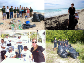 Beach cleaning in Quintana Roo
