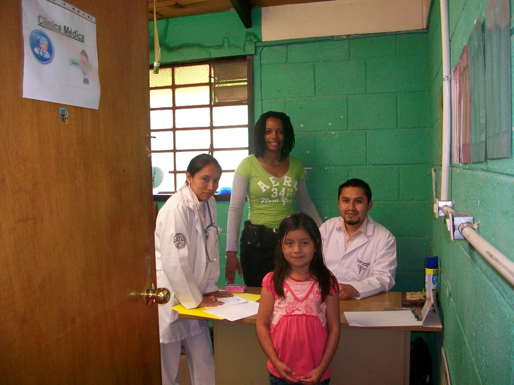 Team of dedicated staff reviewing patient