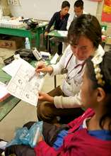 Giving health education during Mobile Clinics
