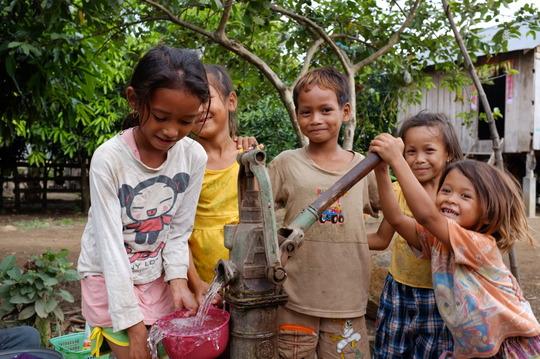 Children on safe ground in Cambodia.