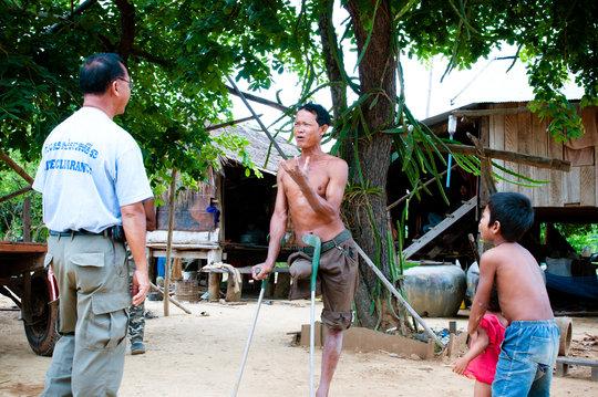 Mine victim in Battambang Province, Cambodia.