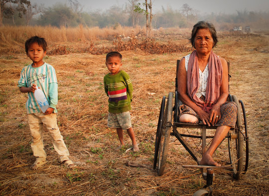 Remove landmines from a village in Cambodia