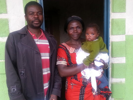 Mr. Dieudonne with his Wife and daughter