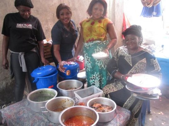 Mama Akan has 4 kids, and sells food since 1991