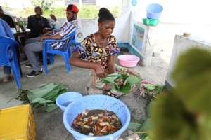 Maman Juliette, a Liboke vendor in Kinshasa