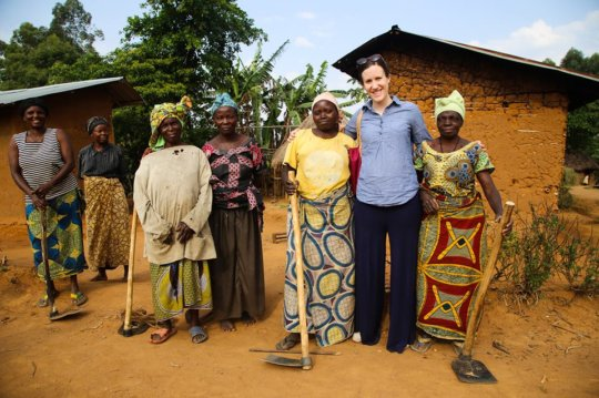 Julia visiting Bunzi Village last year