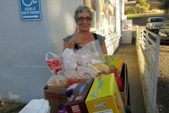 Rufus Baptist Church hosts the new pantry