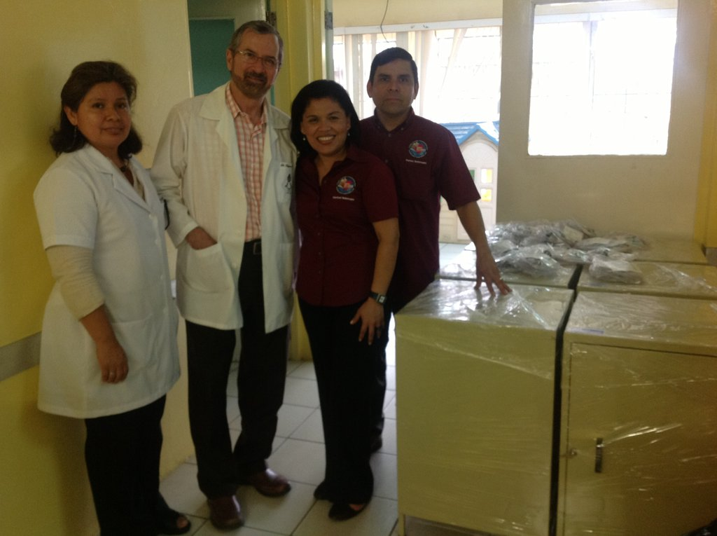 With the Director of Oncology and Licentiate