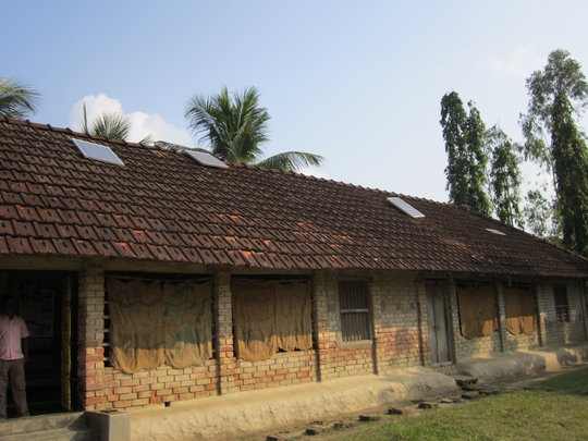 The school hostel with the solar panels
