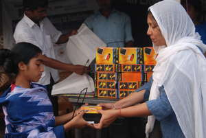 Solar lamp distribution