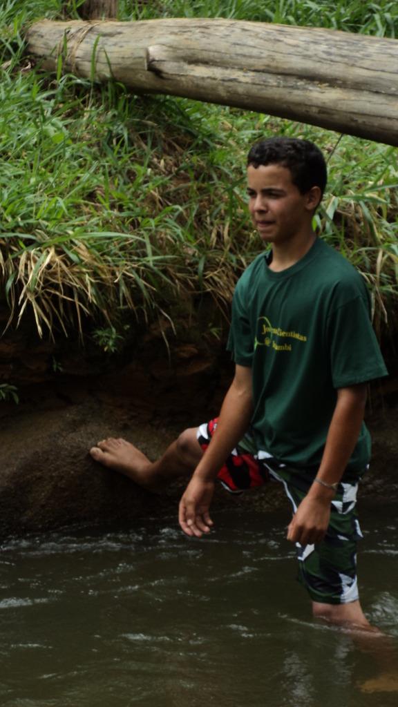 Rafael getting ready to check stream flow