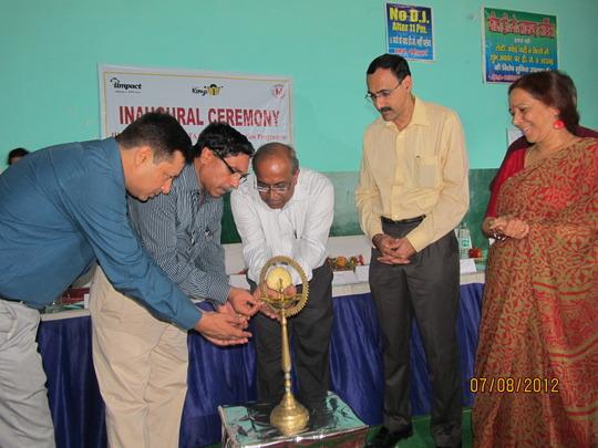 Lighting the inaugural lamp