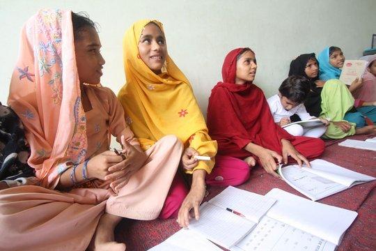IIMPACT girls at work