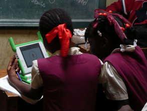 Two Girls Using Laptop