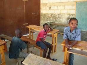 Kids in Classroom in Ecole Baptiste