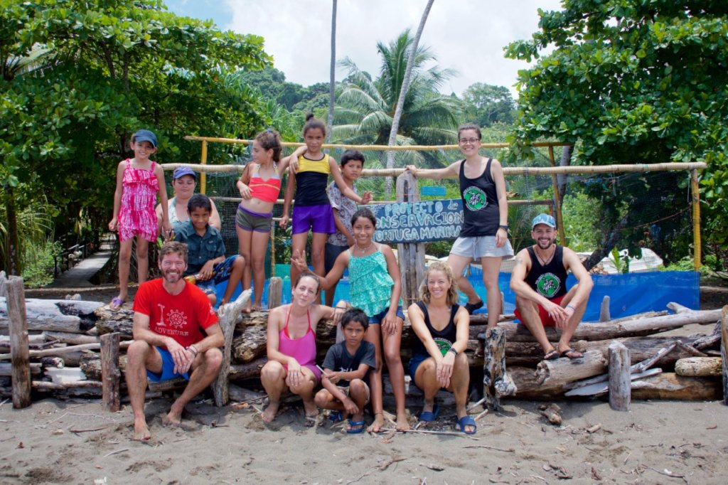 Out reach efforts, kids visiting project in Rincon