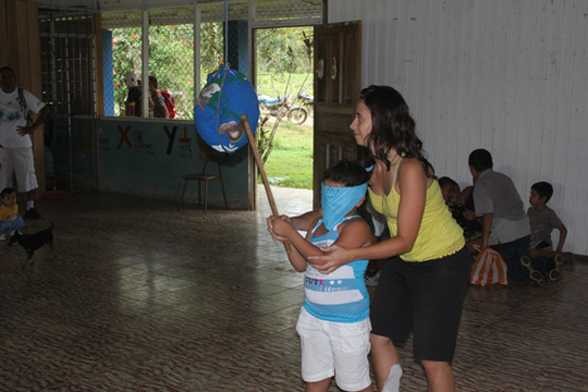 Christmas party at the school of El Progreso