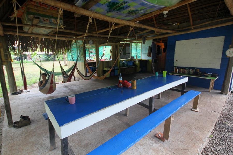 The new camp in the village of El Progreso