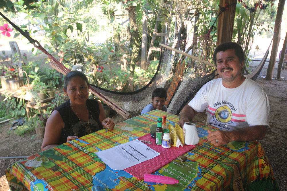 one of the wonderful homestay families in ACOTPRO
