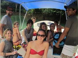 Volunteers enjoying a day off at Cano Island